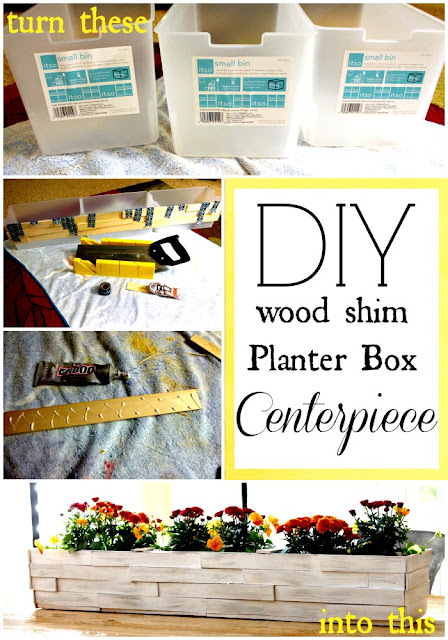 wood shim planter box