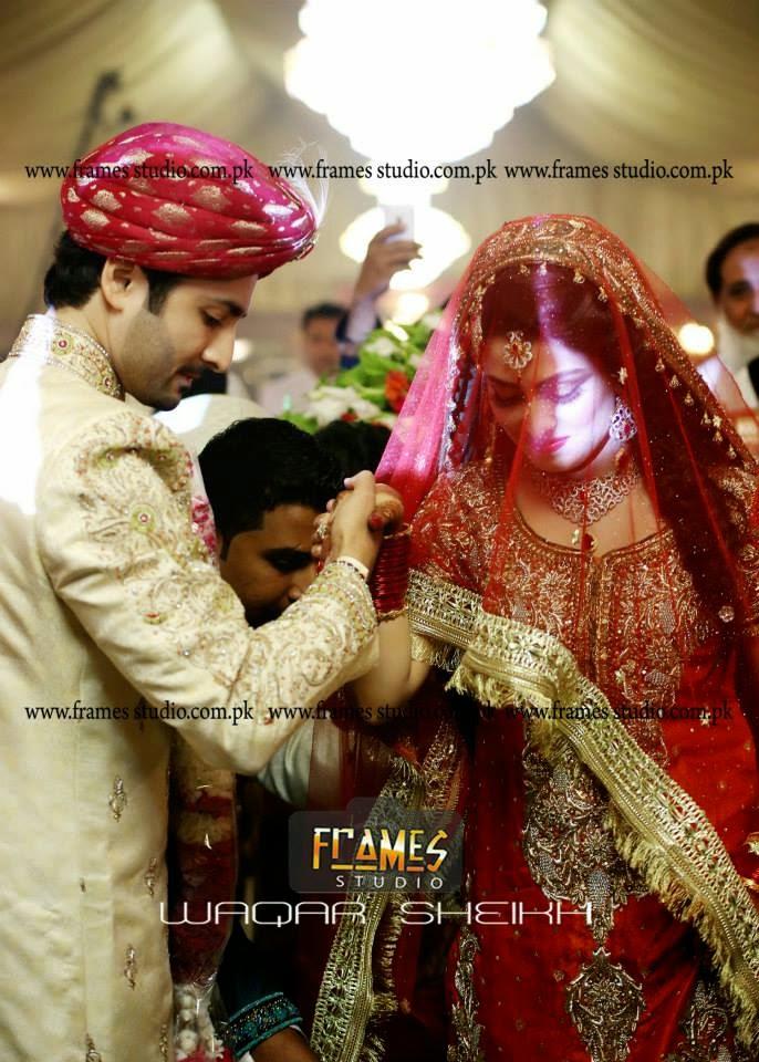 Aiza Khan And Danish Wedding Pics Barat Special Bridal