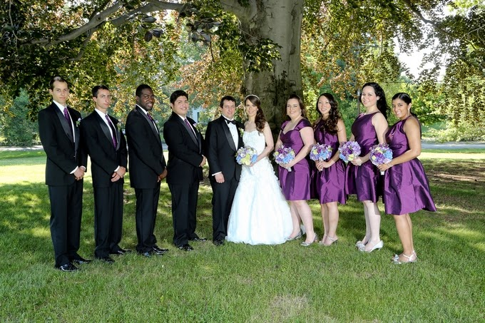 Purple and Blue Massachusetts Wedding: Adriana & Steve