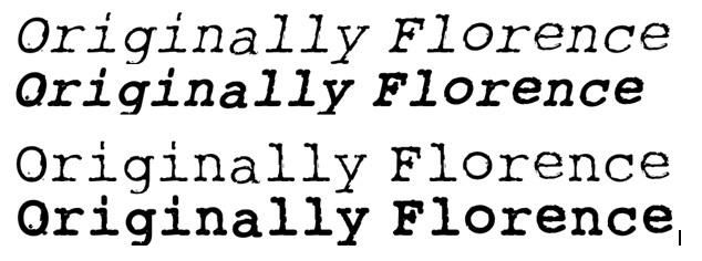 Originally Florence