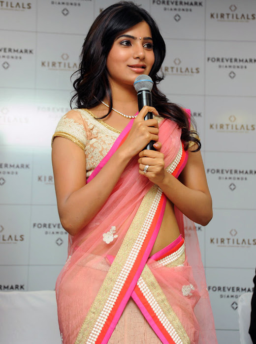 samantha beautiful saree cute stills