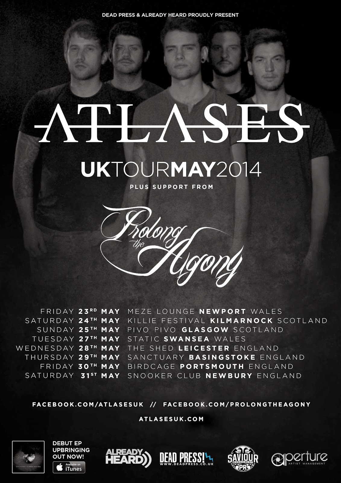 Atlases on the road with Upbringing Tour May 2014