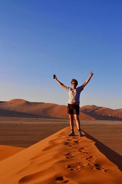 Top of Dune 45, Sossusvlei