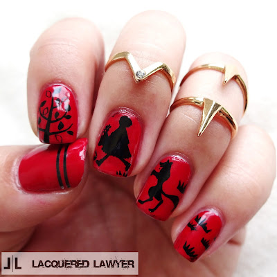 Little Red Riding Hood Nail Art