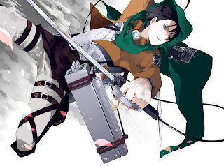 Attack on Titan Shingeki no Kyojina Levi Rivaille Anime Sword Blade HD Wallpaper Desktop Background