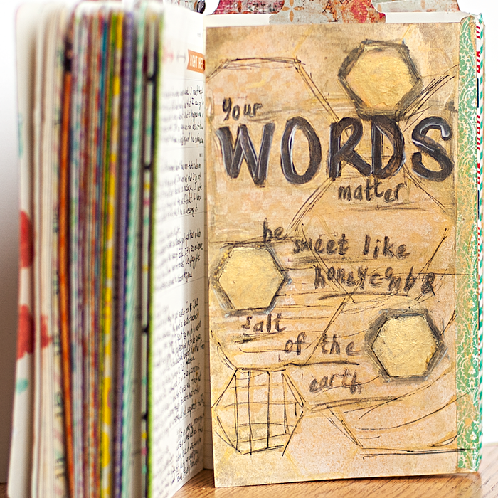 Heather Greenwood | Art Journal | Your Words Matter...