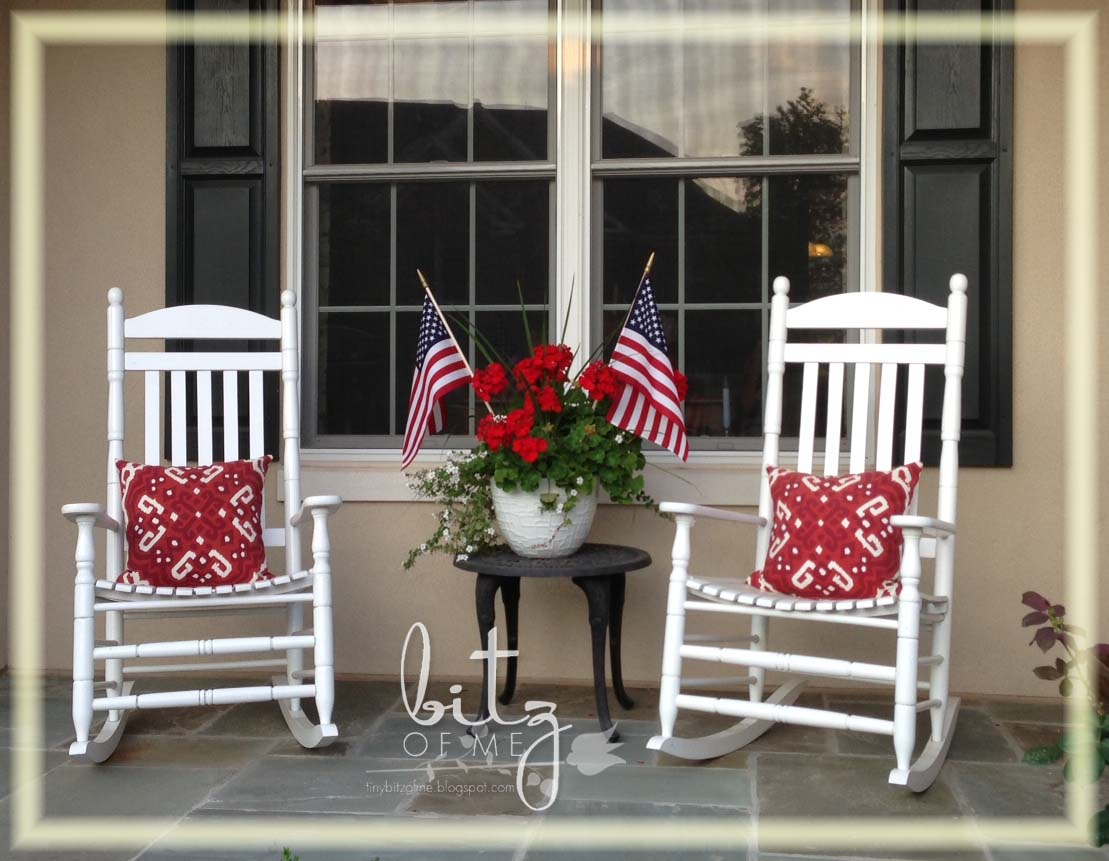 Flowers of liberty bitz of me for Rocking chair front porch design ideas