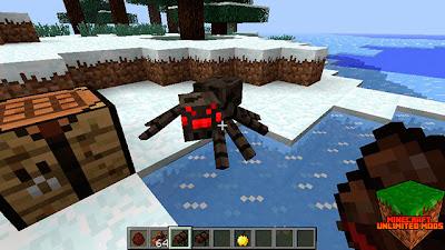 Alimentando una araña en Minecraft