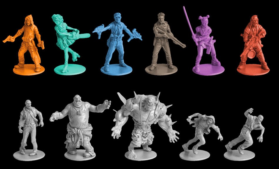 Supervivientes y zombis de Zombicide