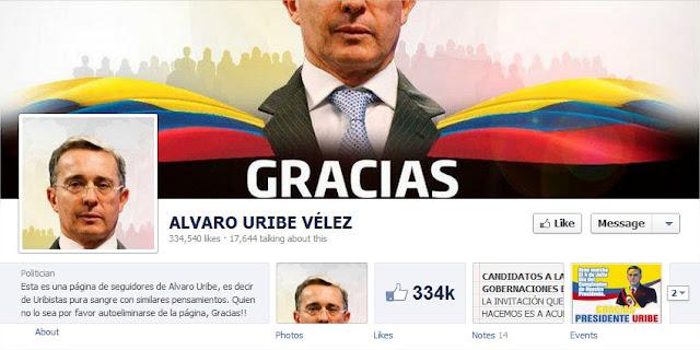 Alvaro Uribe facebook