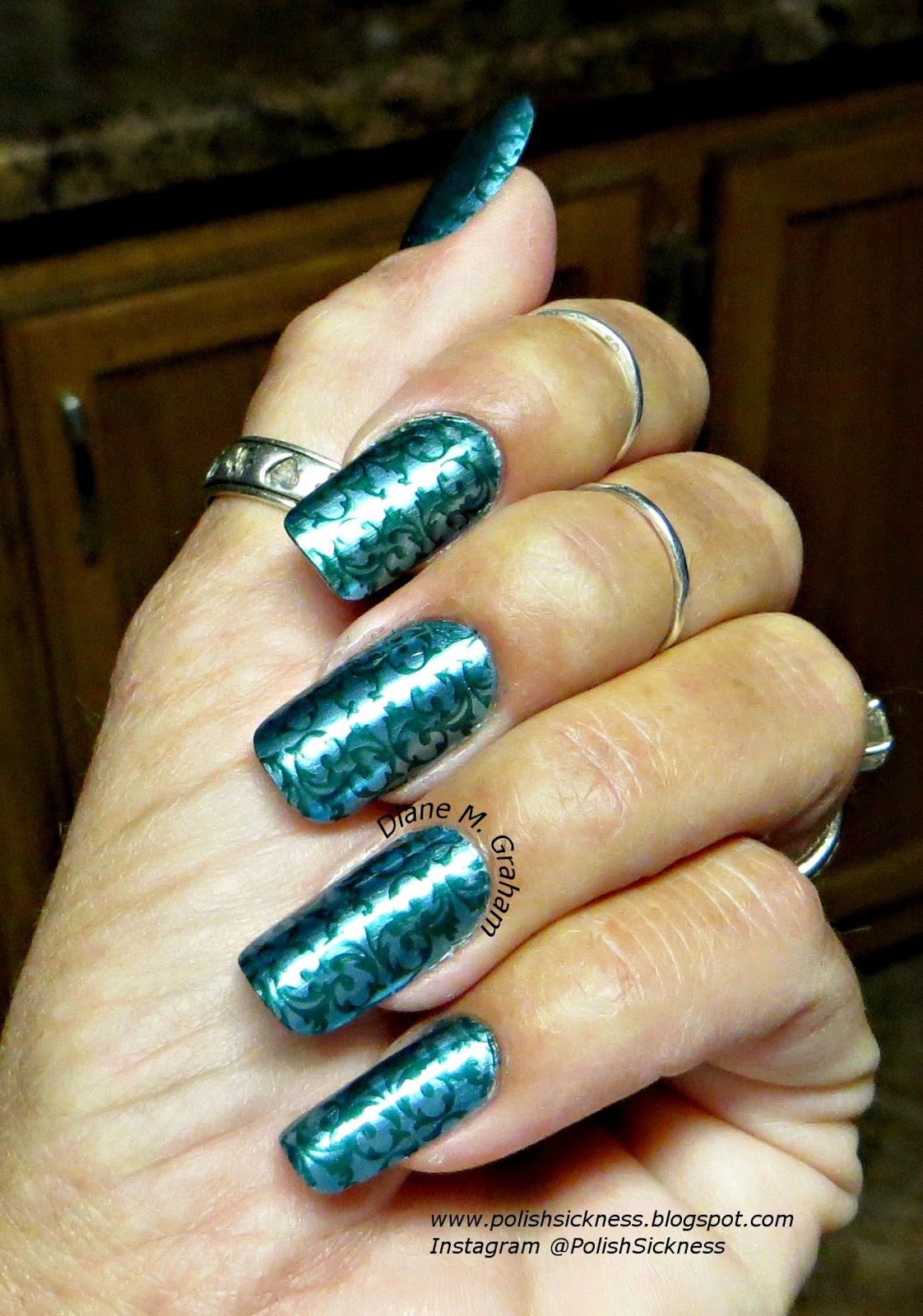 Sally Hansen Color Foil Minted Metal, Square Hue Patty's Pint, DRK-A stamp