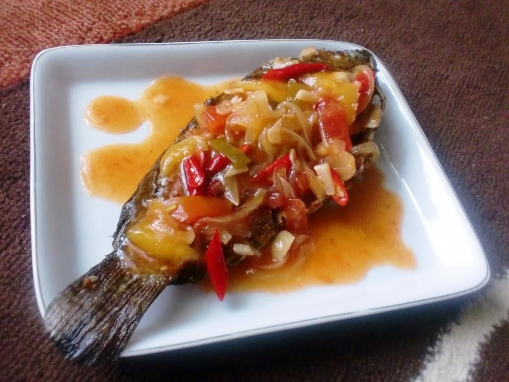 Ikan Goreng Siram Saus Mangga