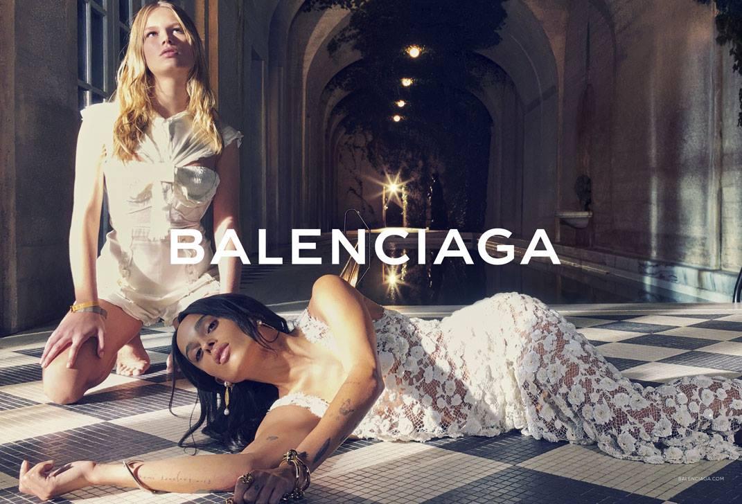Anna Ewers Zoe Kravitz for Balenciaga Spring 2019 Campaign forecasting