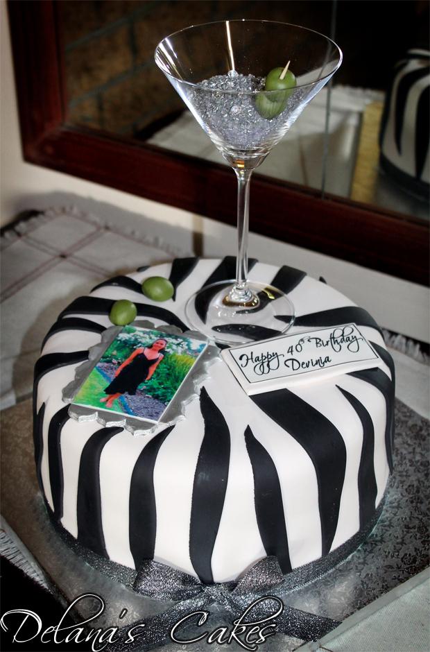 Delanas Cakes Martini Glass 40th Birthday Cake
