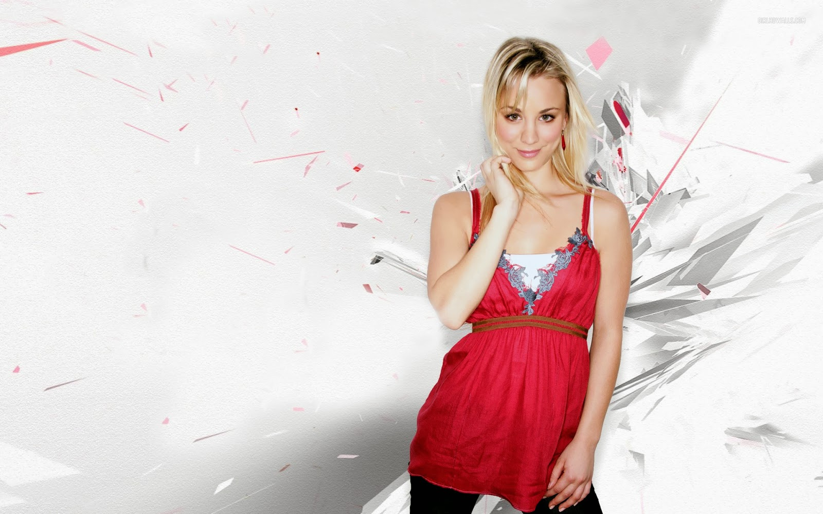 kaley cuoco 720p background wallpapers hd wallpapers