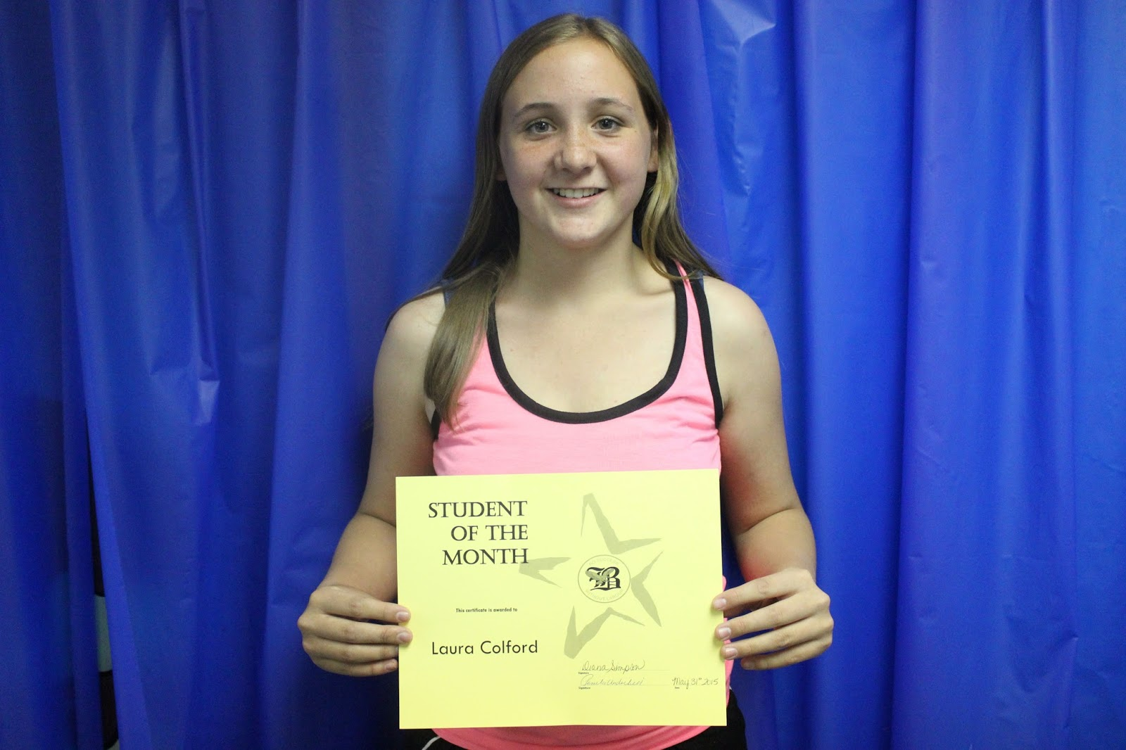 middle school students of the month the blackville talon get things done she is involved in many activities maintains good grades and is always willing to help out