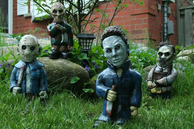 Michael myers garden nightmare gnome now available halloween daily news for Myers lawn and garden