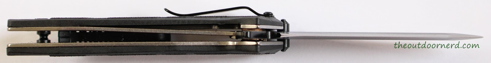 Kershaw Brawler Pocket Knife Close Up Of Lockup 1