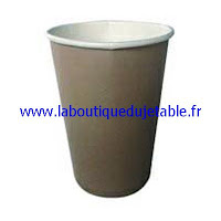 Gobelet en carton marron pour jus d'orange ou café