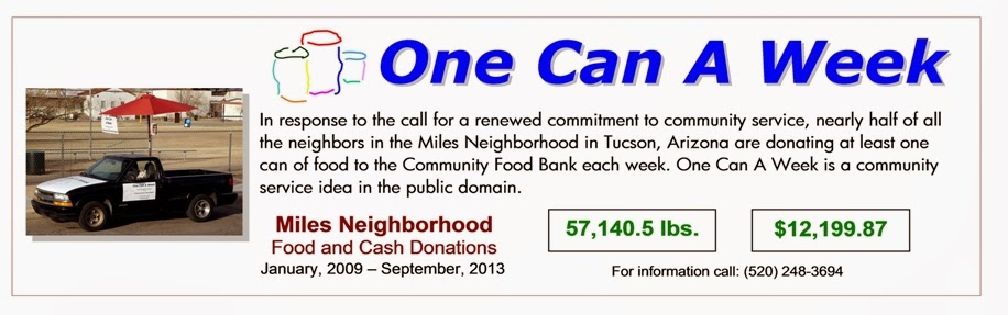 ONE CAN A WEEK Food Donation Program