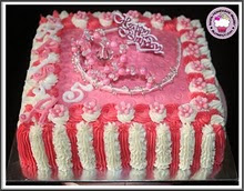 crown square cake