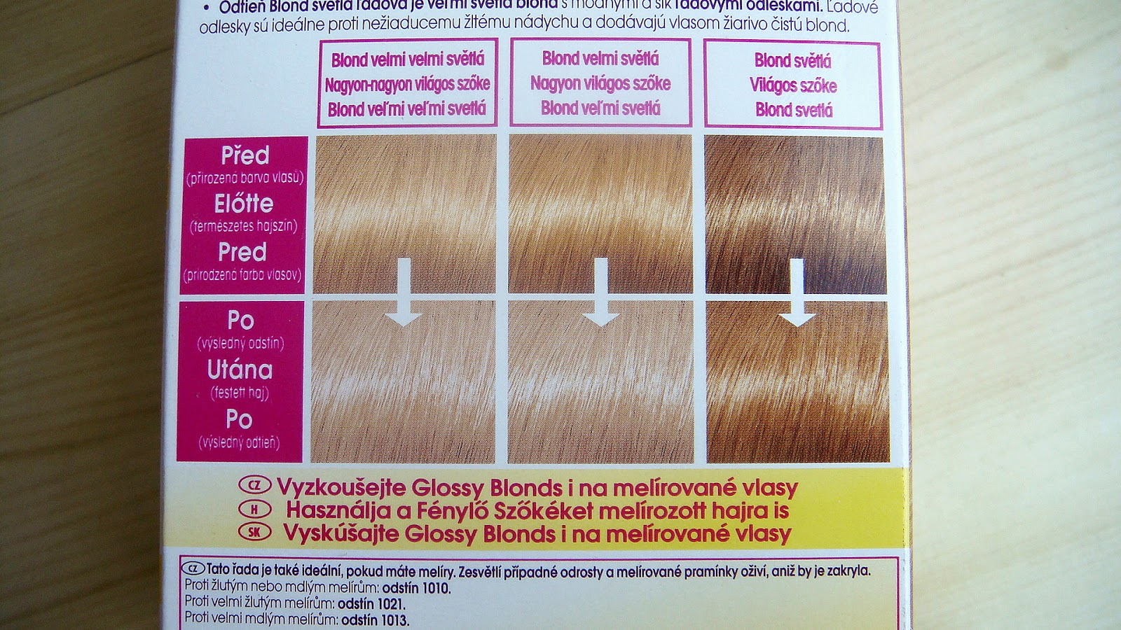 přeliv na melírované vlasy