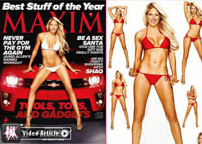 Celebrity Kelly Kelly Cover Up Maxim