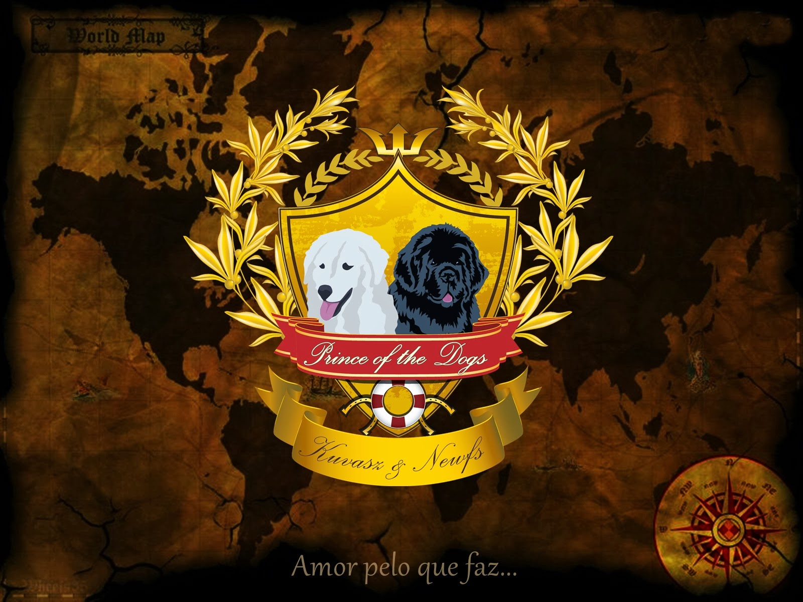 KUVASZ E TERRANOVA -  Prince of The Dogs Kennel - Brasil