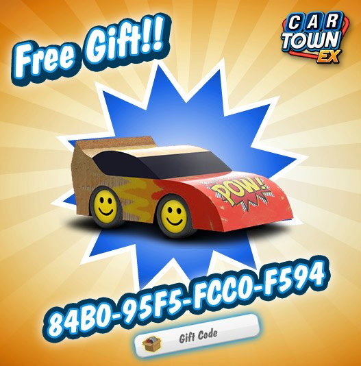 Car Town EX Free Gift Really Fast Car 2012