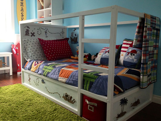 Letto Kura Ikea : Kura bed makeover kids room designs