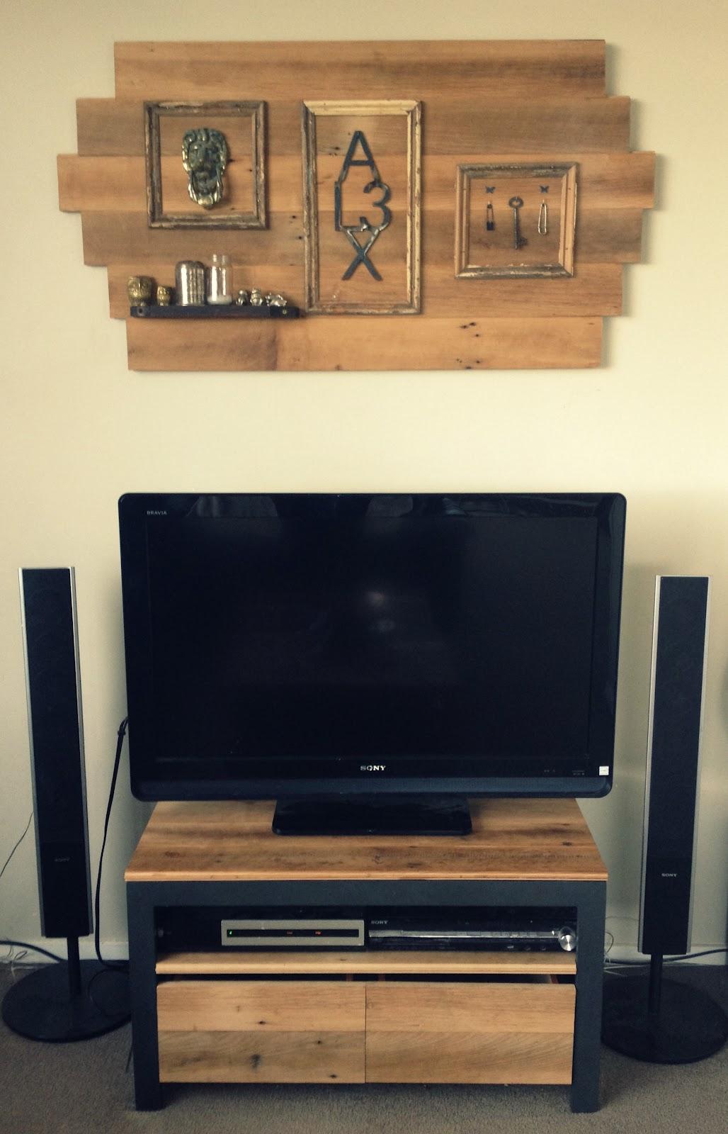 home made diy modern rustic living room make over. Black Bedroom Furniture Sets. Home Design Ideas