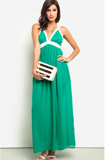 green maxi dress from dailylook.com