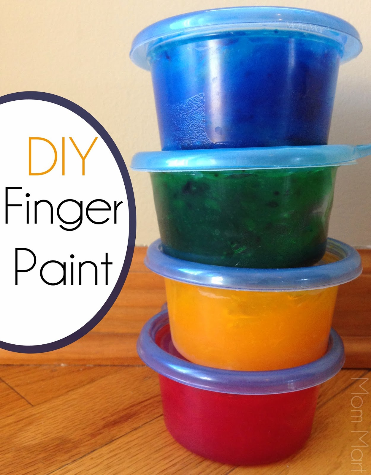 DIY Homemade Finger Paint #Recipe #DIY #Homemade #Tutorial #CraftsForKids