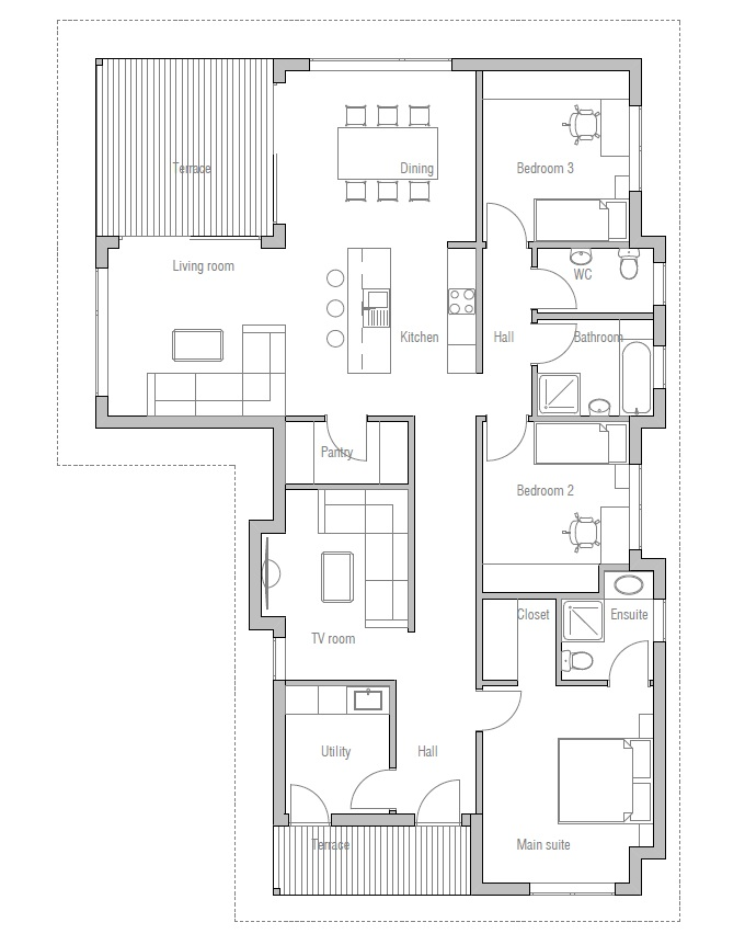 Affordable home plans economical home plan ch73 for Economical house plans