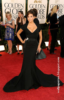 Actress Eva Longoria arrives at the 68th Annual Golden Globe Awards in Beverly Hills