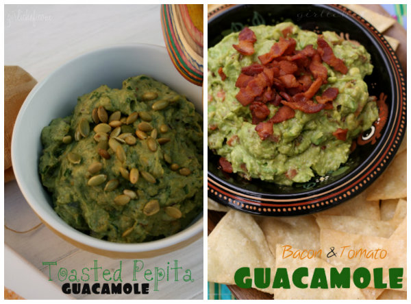 <i>Guacamole Two Ways:</i> Bacon and Tomato + Toasted Pepita