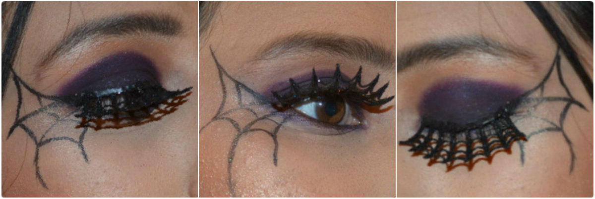 Spider Web Eye Makeup Theme