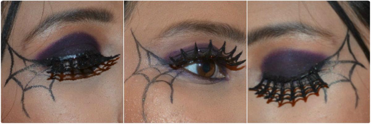 Spider Web Eye Makeup Theme