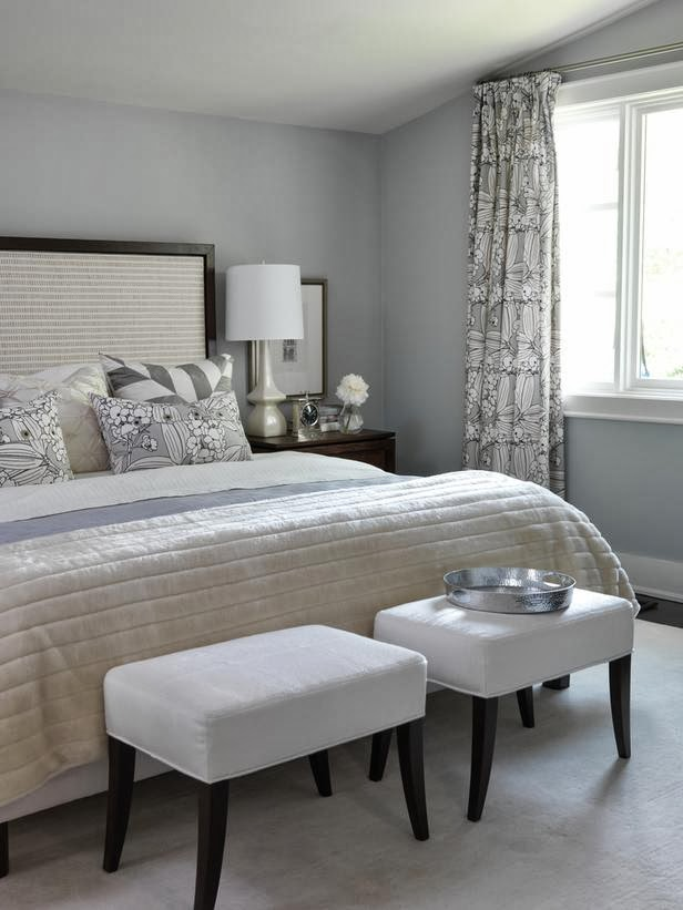 cool comfort master bedroom from sara richardson these icy tones of cream and grey provide a perfect setting for steamy nights