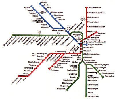 Stockholm Tunnelbana Map 3