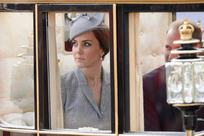 Catherine, Duchess of Cambridge arrives at Buckingham Palace