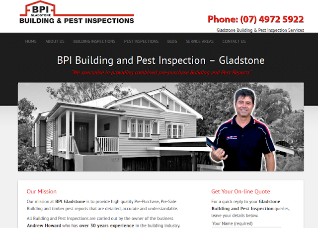 leading building and pest inspection experts in Gladstone