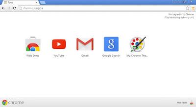 Tampilan google chrome