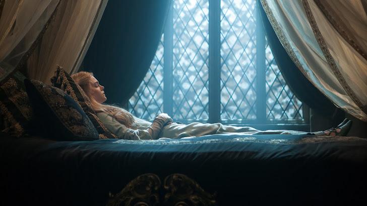 elle fanning as aurora sleeping beauty in maleficent movie girl