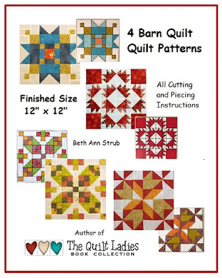 Four Barn Quilt Patterns in Fabric by The Quilt Ladies