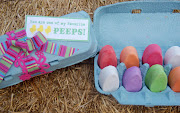 . in the shape of Easter eggs to give away as gifts to their friends. easter egg sidewalk chalk