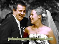 cara edit foto pernikahan hitam putih menjadi berwarna