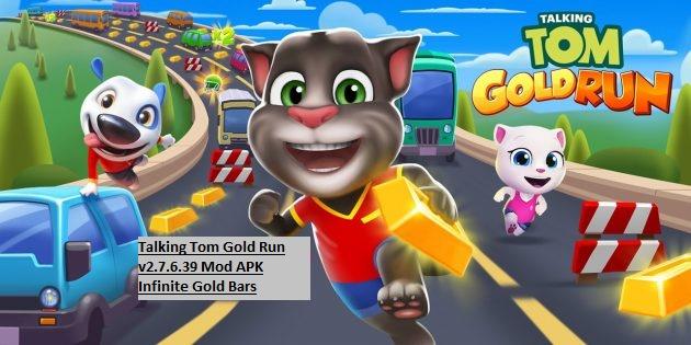Talking Tom Gold Run v2.7.6.39 Mod APK Infinite Gold Bars