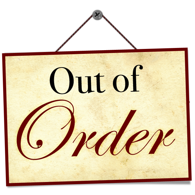 Shocking image in printable out of order sign