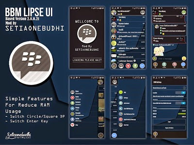 BBM + BBM2 Mod Theme Lipse UI Super Fast and Simple Version 2.8.0.21 Apk